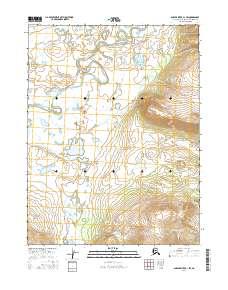 Topo map Ambler River A-1 SW Alaska