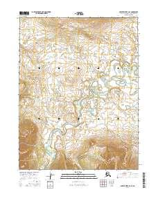 Topo map Ambler River A-2 SE Alaska