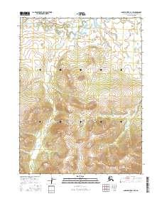 Topo map Ambler River A-2 SW Alaska