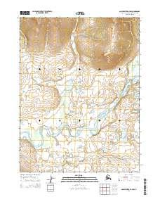 Topo map Ambler River A-3 NW Alaska