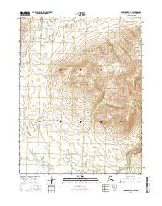 Topo map Ambler River A-3 SW Alaska