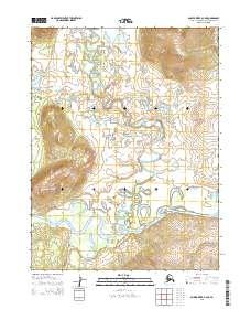 Topo map Ambler River A-4 NE Alaska
