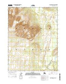 Topo map Ambler River A-4 NW Alaska