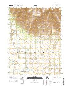 Topo map Ambler River A-5 NE Alaska