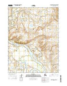 Topo map Ambler River A-5 NW Alaska