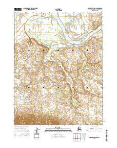 Topo map Ambler River A-5 SW Alaska