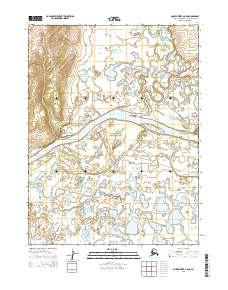Topo map Ambler River A-6 NE Alaska