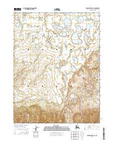 Topo map Ambler River A-6 SE Alaska