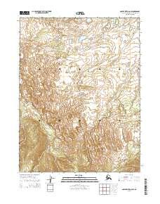 Topo map Ambler River A-6 SW Alaska