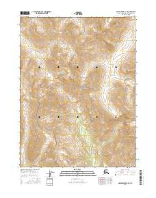Topo map Ambler River B-1 NE Alaska