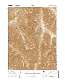 Topo map Ambler River B-1 NW Alaska