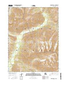 Topo map Ambler River B-1 SE Alaska