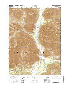 Topo map Ambler River B-2 NW Alaska