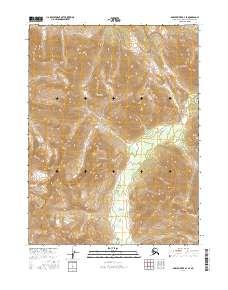 Topo map Ambler River B-2 SE Alaska