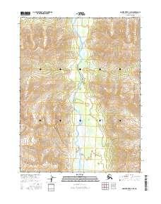 Topo map Ambler River B-2 SW Alaska