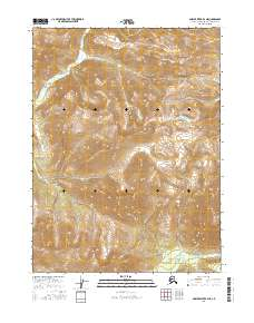 Topo map Ambler River B-3 NE Alaska