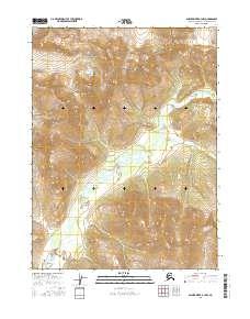 Topo map Ambler River B-3 NW Alaska