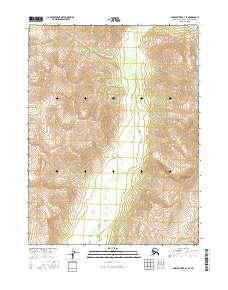 Topo map Ambler River B-3 SE Alaska
