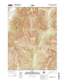 Topo map Ambler River B-3 SW Alaska