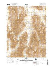 Topo map Ambler River B-4 NE Alaska