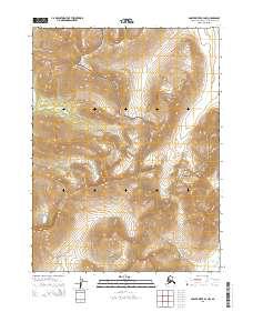 Topo map Ambler River B-4 NW Alaska