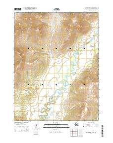 Topo map Ambler River B-4 SE Alaska
