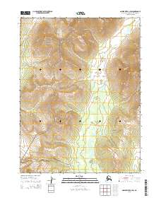 Topo map Ambler River B-4 SW Alaska