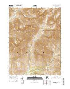 Topo map Ambler River B-5 NW Alaska