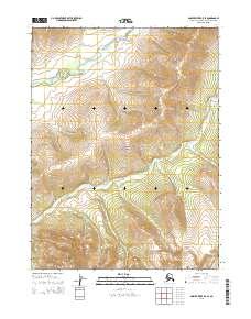Topo map Ambler River B-5 SE Alaska