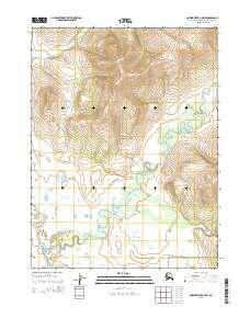 Topo map Ambler River B-5 SW Alaska