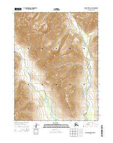 Topo map Ambler River B-6 NE Alaska