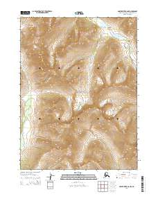 Topo map Ambler River B-6 NW Alaska