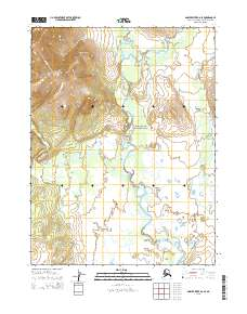 Topo map Ambler River B-6 SE Alaska