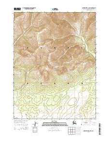 Topo map Ambler River B-6 SW Alaska
