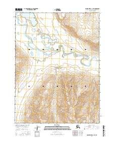 Topo map Ambler River C-1 NE Alaska