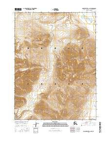 Topo map Ambler River C-1 NW Alaska