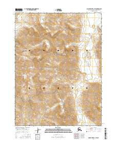 Topo map Ambler River C-1 SW Alaska
