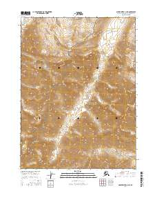 Topo map Ambler River C-2 NE Alaska