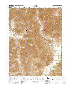 Topo map Ambler River C-2 SW Alaska