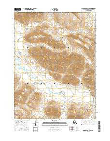 Topo map Ambler River C-3 SW Alaska