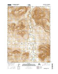 Topo map Ambler River C-4 NE Alaska