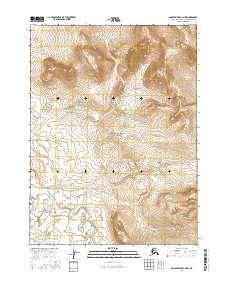 Topo map Ambler River C-4 NW Alaska
