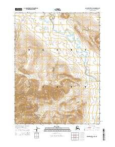 Topo map Ambler River C-4 SW Alaska