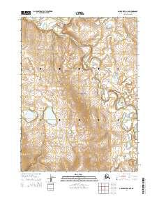 Topo map Ambler River C-5 NE Alaska