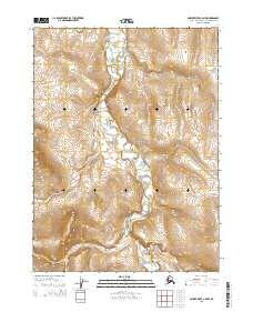 Topo map Ambler River C-5 NW Alaska