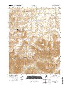 Topo map Ambler River C-5 SW Alaska