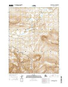 Topo map Ambler River C-6 NE Alaska