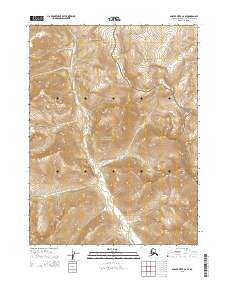 Topo map Ambler River C-6 SE Alaska
