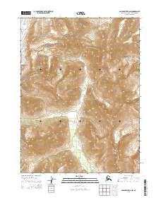 Topo map Ambler River C-6 SW Alaska