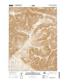 Topo map Ambler River D-1 NW Alaska